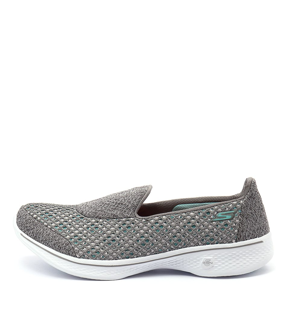 Skechers 14145 Go Walk 4 Kindle Slip On Grey Sneakers