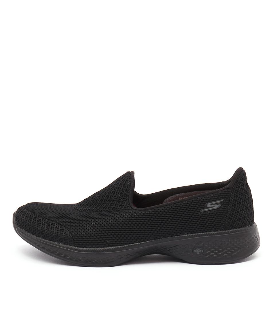 Skechers 14170 Go Walk 4 Propel Black Black Casual Flat Shoes