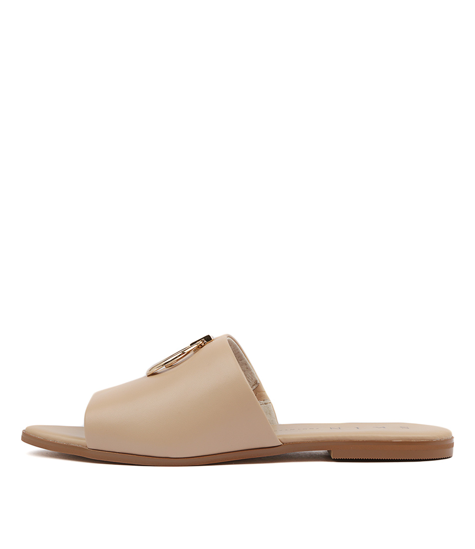 Buy Skin Zenia Nude Flat Sandals online with free shipping