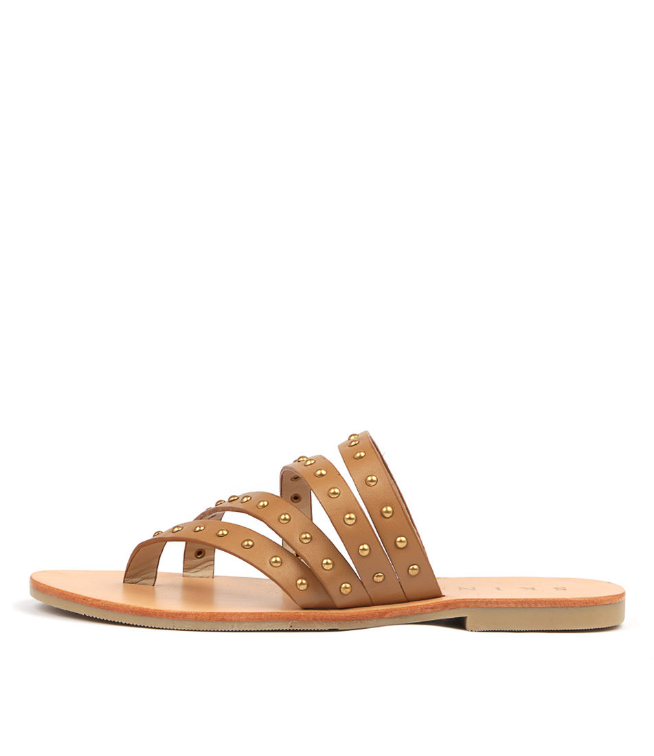 Buy Skin Alessio Tan Flat Sandals online with free shipping