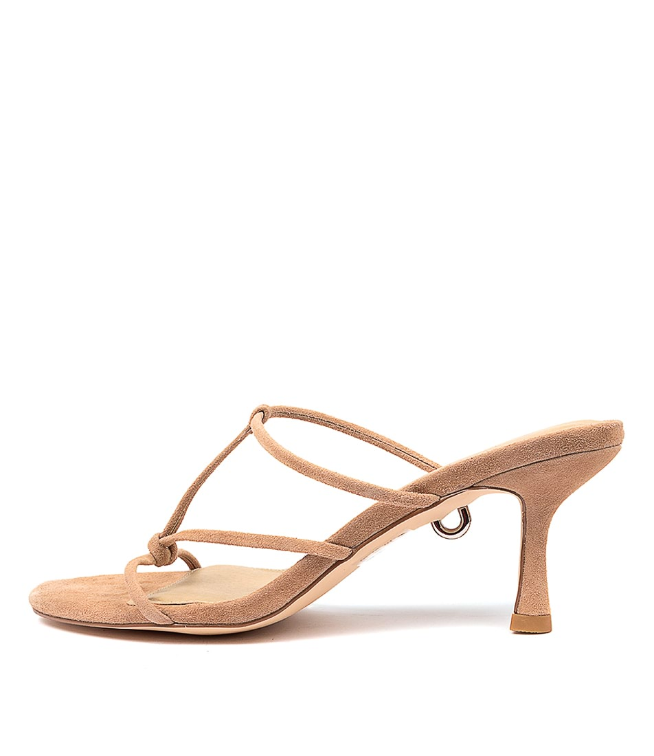 Buy Skin Jaxen Sn Beige Heeled Sandals online with free shipping