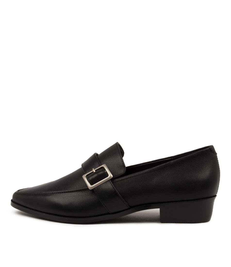 Buy Skin Copenhagen Sn Black Croc Flats online with free shipping