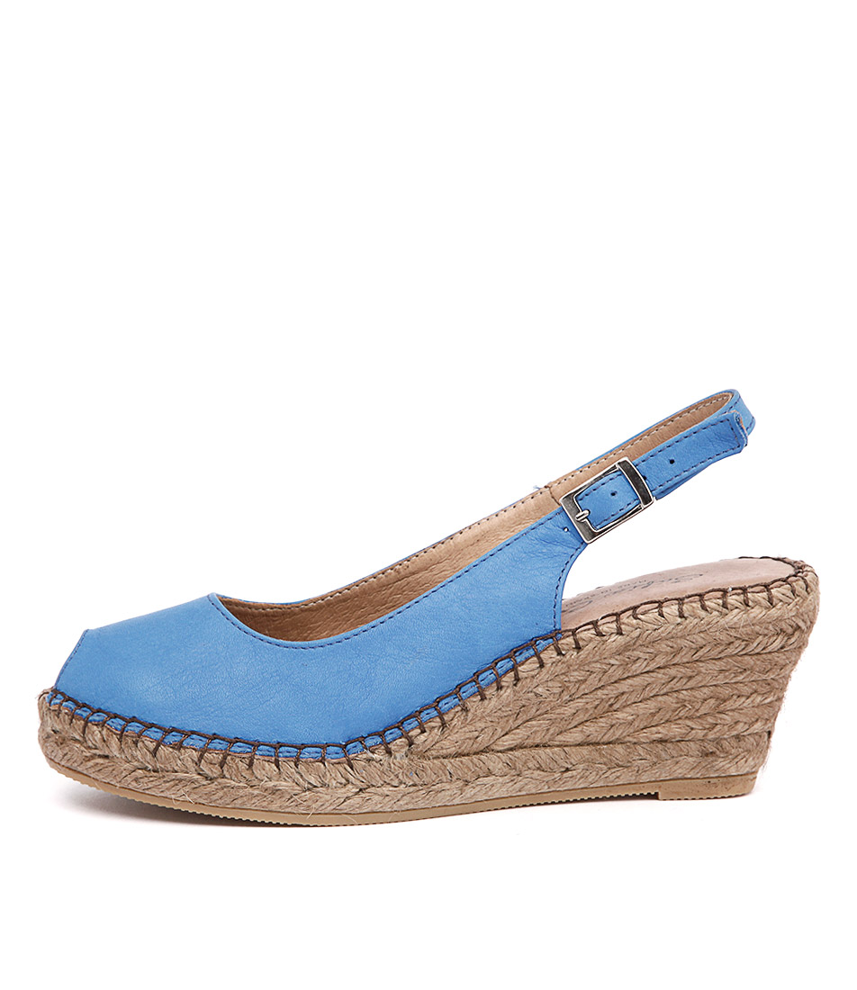 Sofia Cruz Ana 11 Sc Azul (Blue) Casual Heeled Sandals