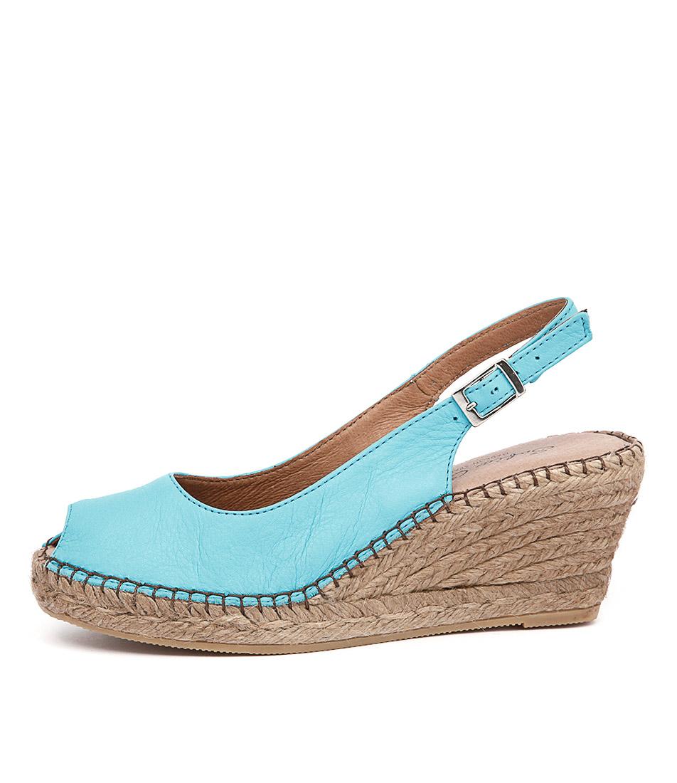 Sofia Cruz Ana 11 Sc Turquesa (Turqu Casual Heeled Sandals