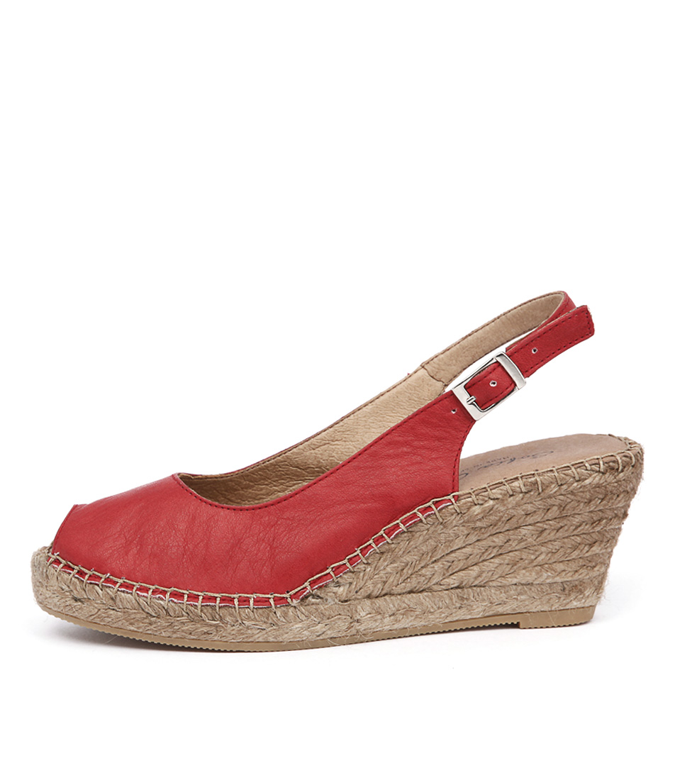 Sofia Cruz Ana 11 Sc Rojo (Red) Casual Heeled Sandals