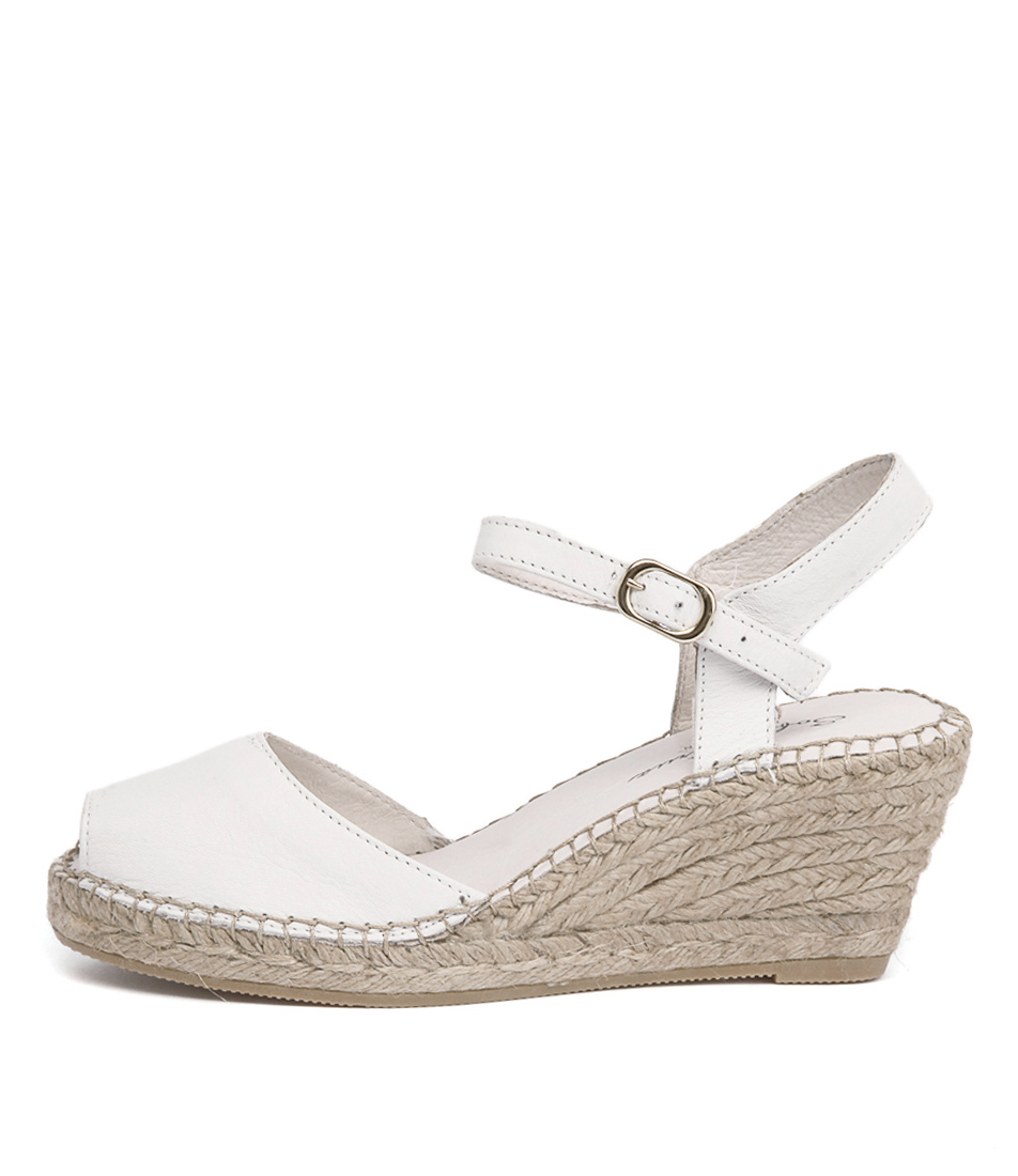 Sofia Cruz Ana 107 Blanco Casual Heeled Sandals