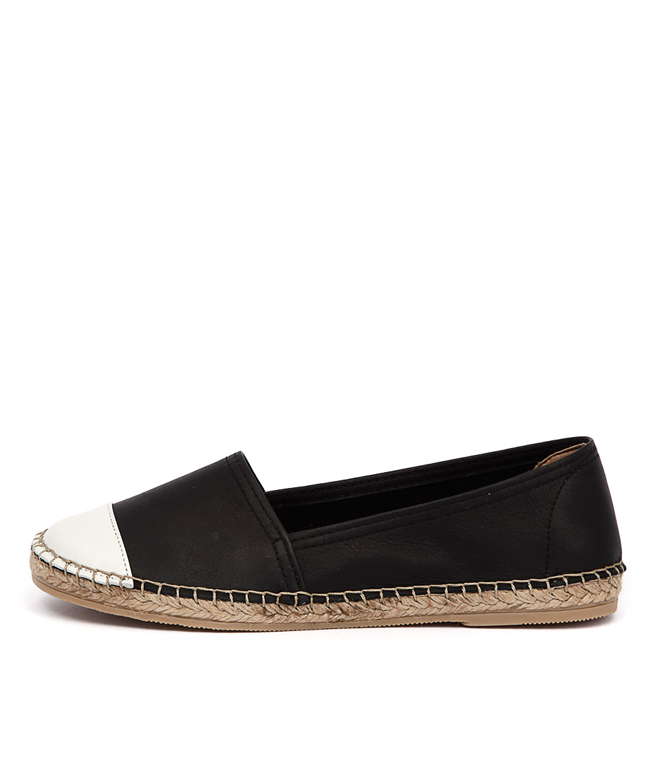 Sofia Cruz Dama 122 Black White Flat Shoes