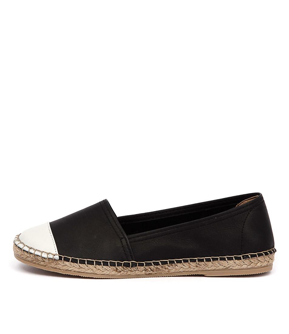 Sofia Cruz Dama 122 Black White Casual Flat Shoes