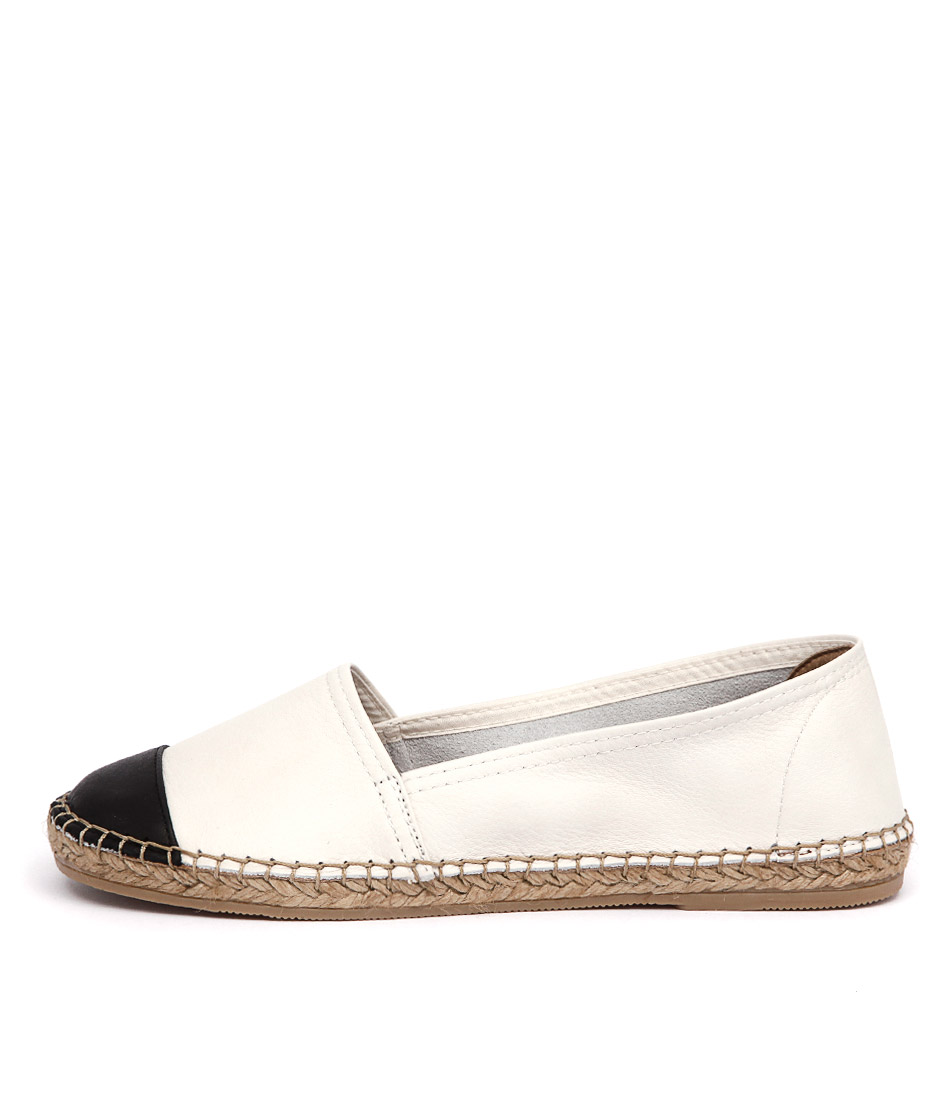 Sofia Cruz Dama 122 White Black Flats