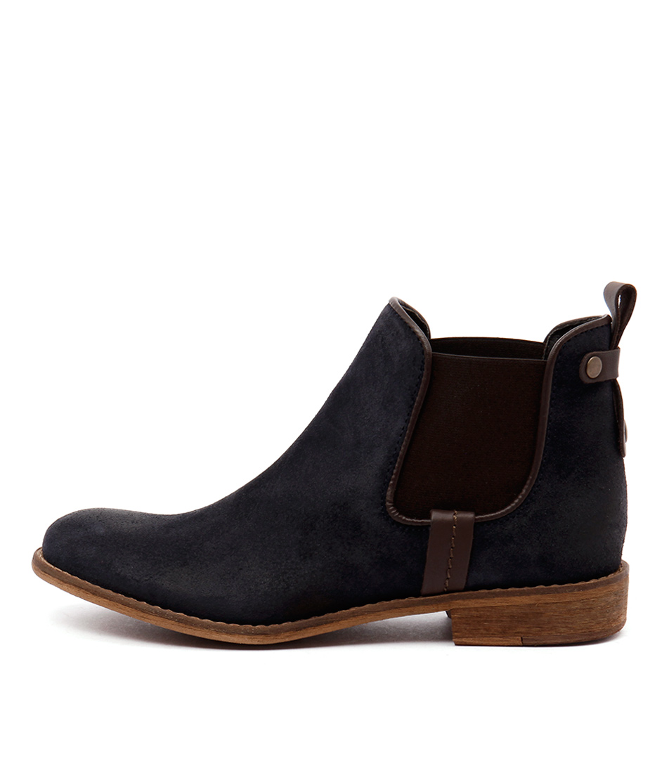 Sofia Cruz Molan Navy Ankle Boots