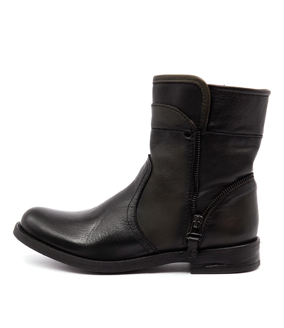 Sofia Cruz Grama Preto Cactus Ankle Boots