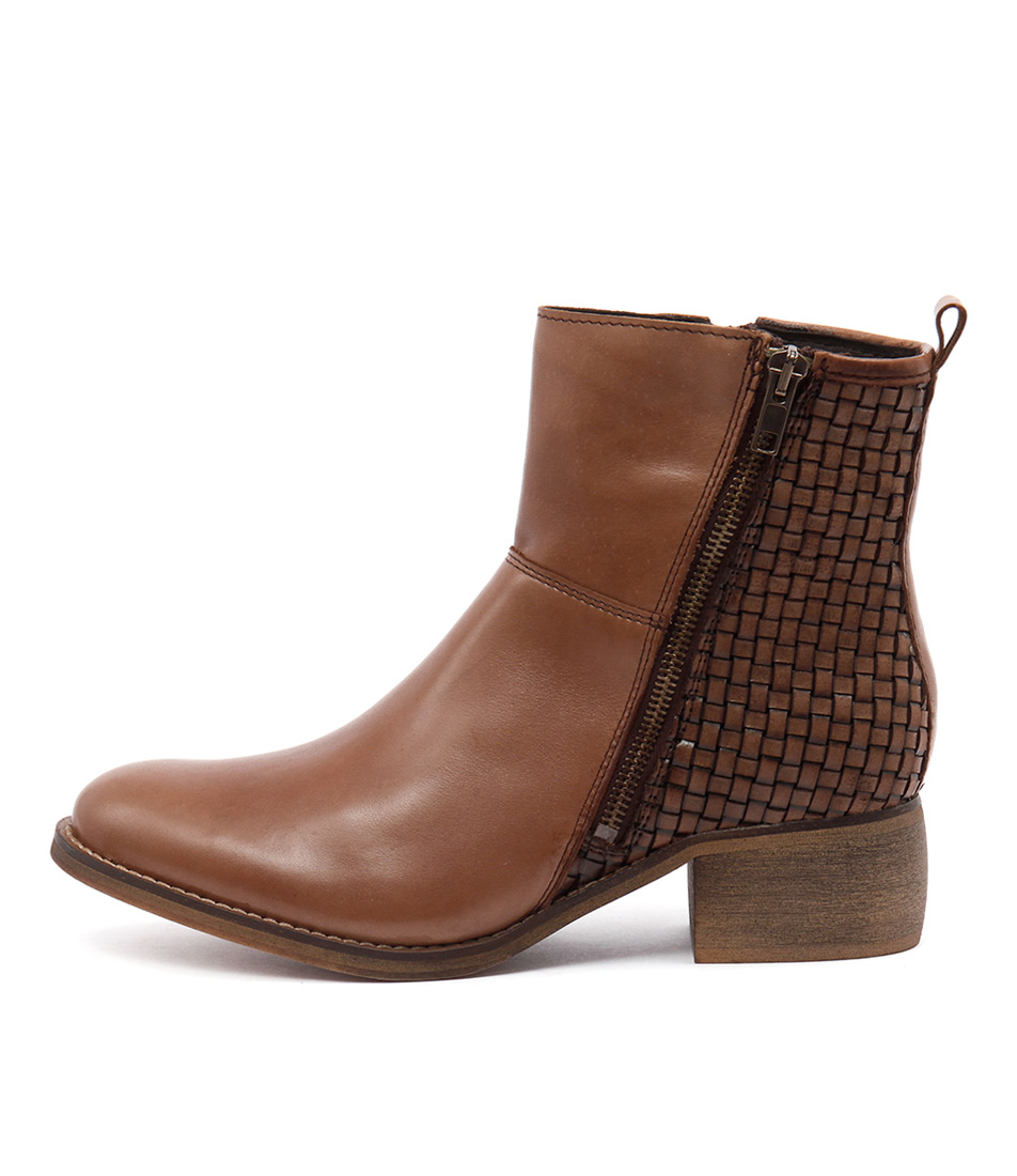 Sofia Cruz Patch Cuoio Ankle Boots