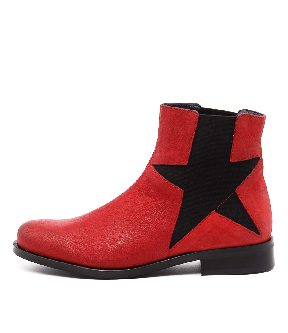 Sofia Cruz Peta Sc Red Ankle Boots