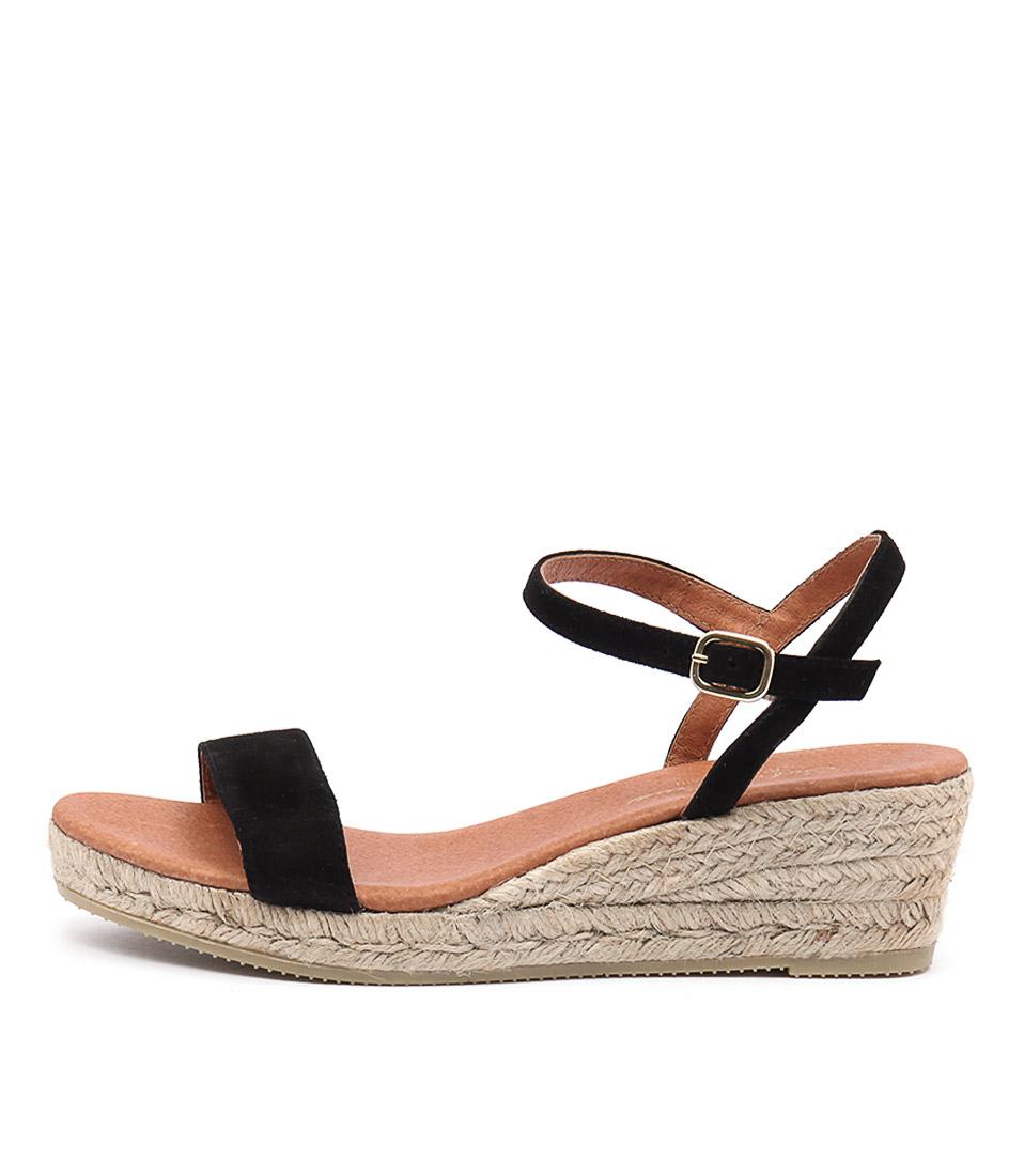 Sofia Cruz Moli Sc Negro Casual Heeled Sandals