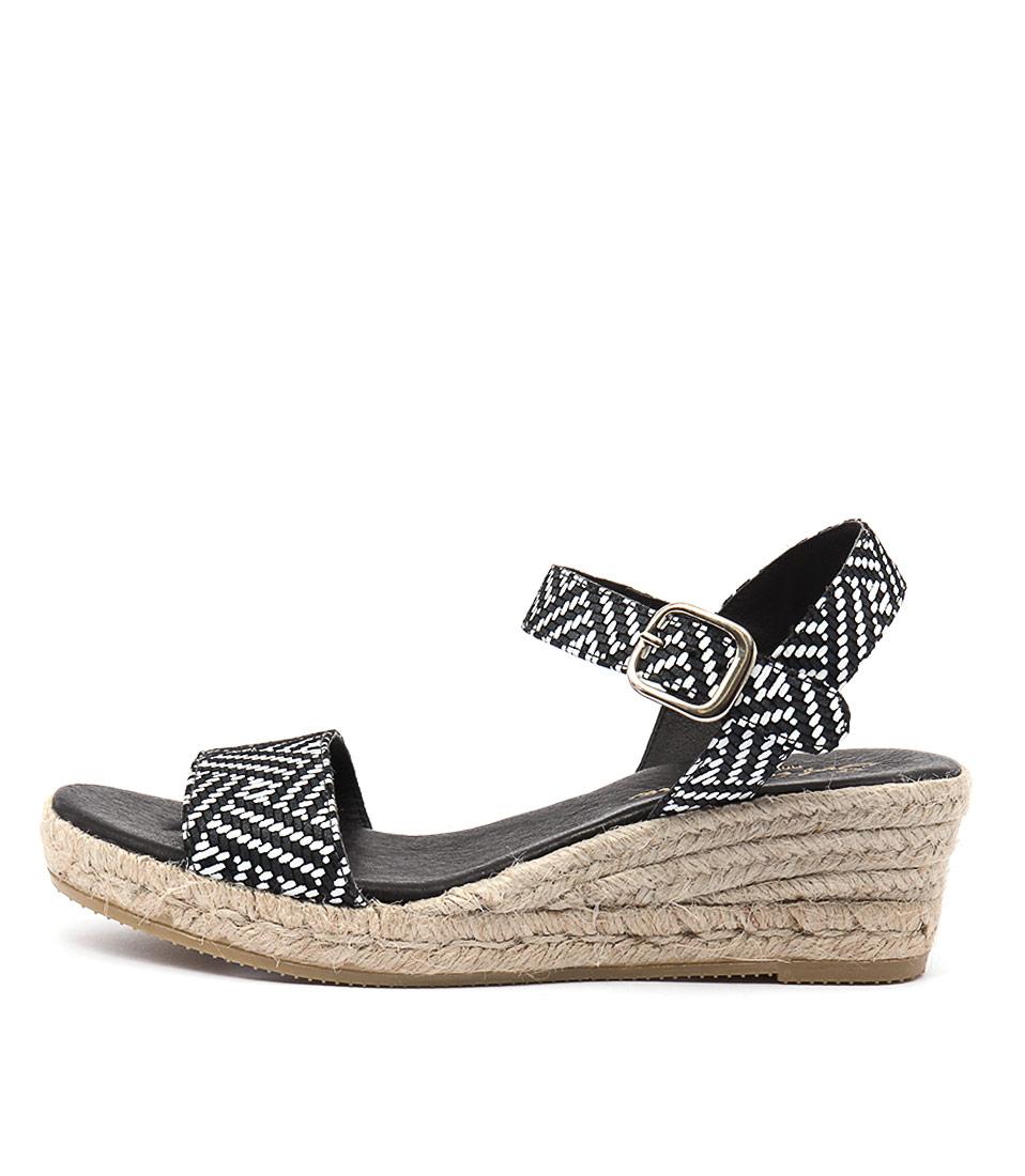 Sofia Cruz Ilsa Sc Negro Casual Heeled Sandals