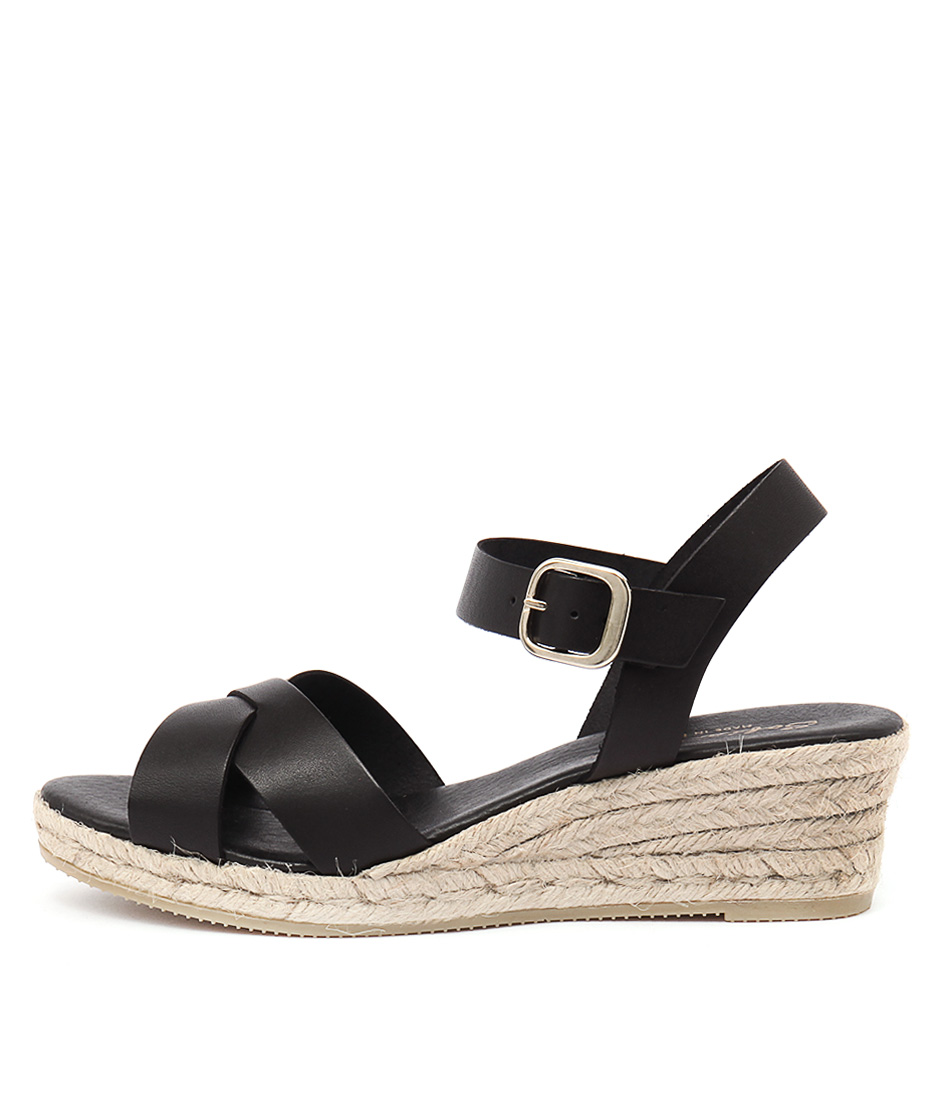 Sofia Cruz Isabelle Negro Casual Heeled Sandals