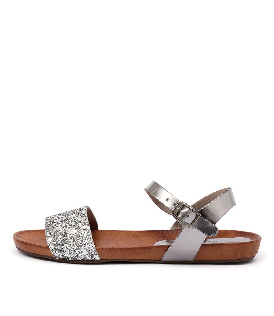 Sofia Cruz Marissa Sc Espejo Plata Casual Flat Sandals