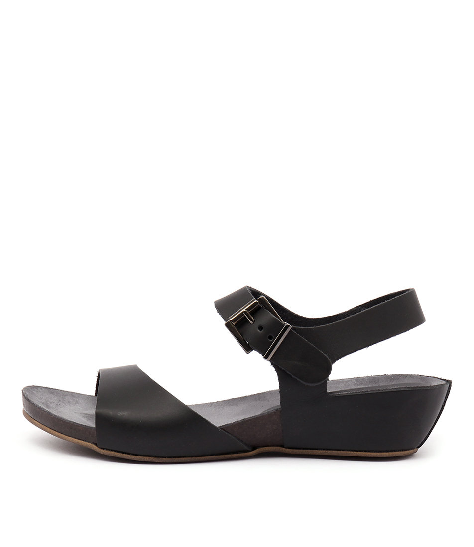 Sofia Cruz Maya Negro Casual Heeled Sandals