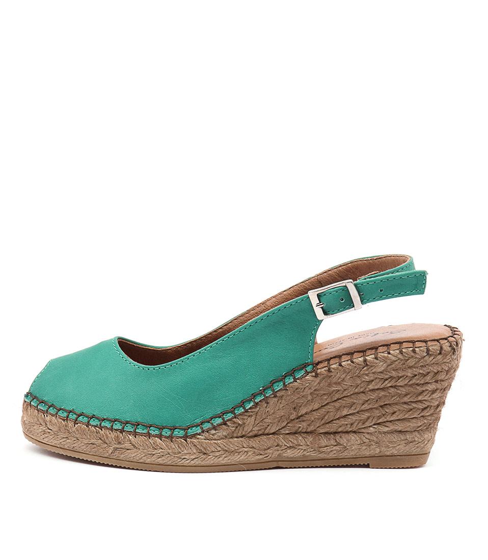 Sofia Cruz Ana 11 Sc Verde (Green) Casual Heeled Sandals