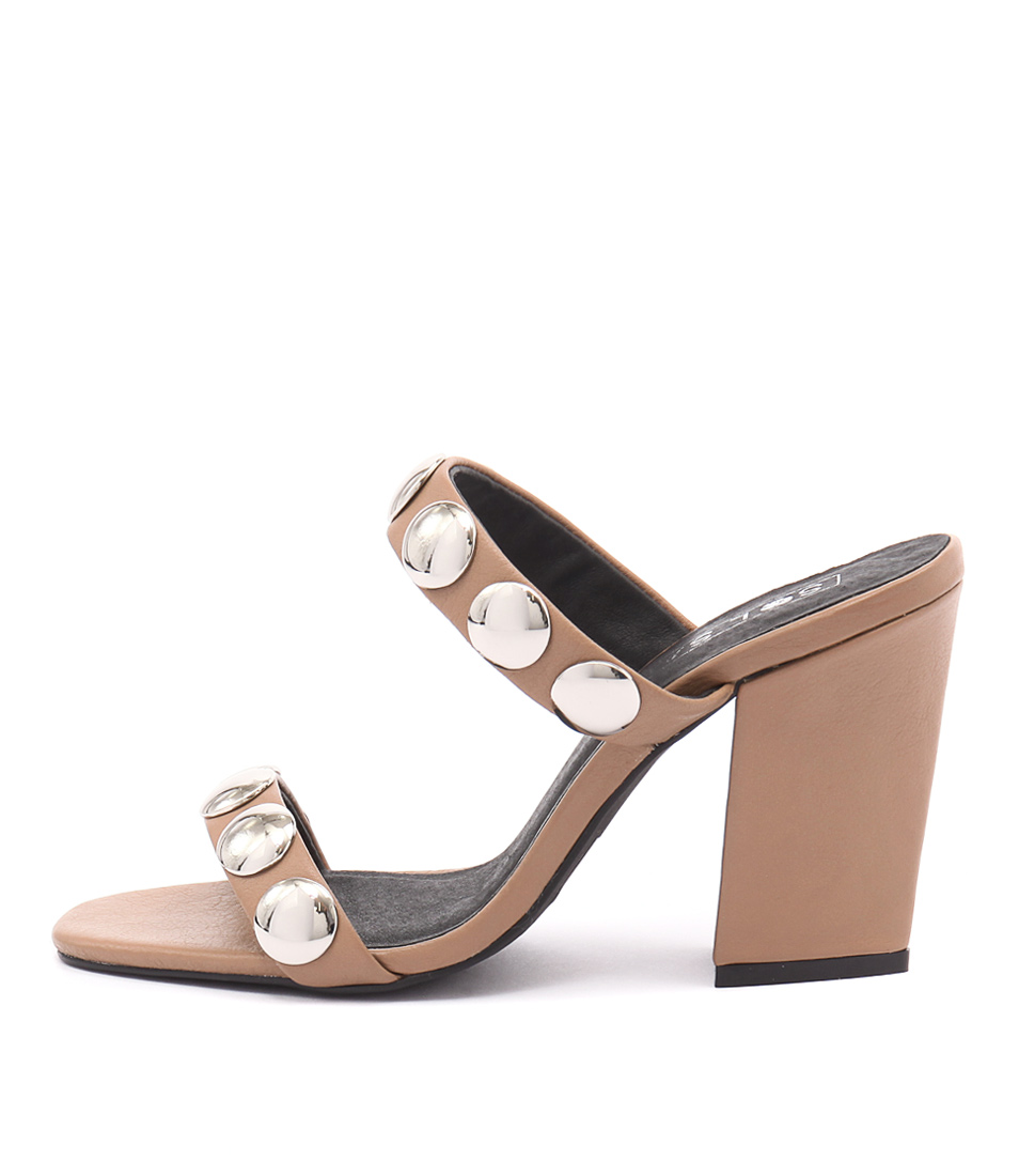 Sol Sana Sheri Heel Tan Heeled Sandals