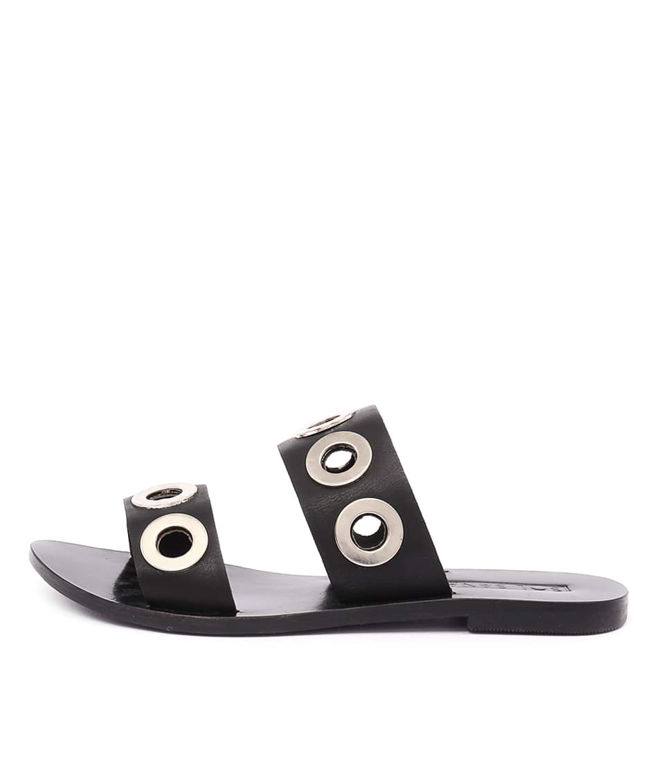 Sol Sana Hannah Slide Black Casual Flat Sandals buy  online