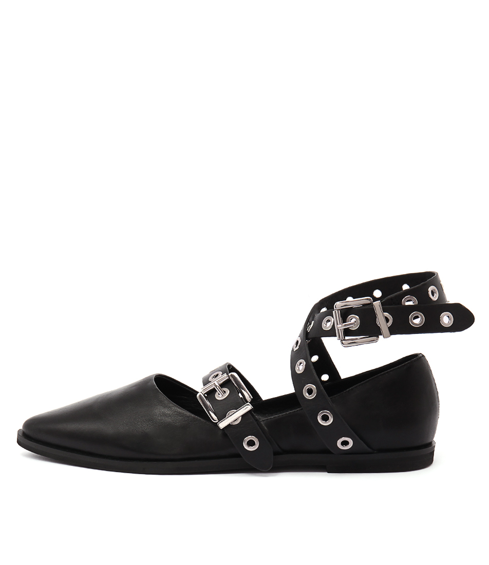 Sol Sana Miro Flat Black Casual Flat Shoes