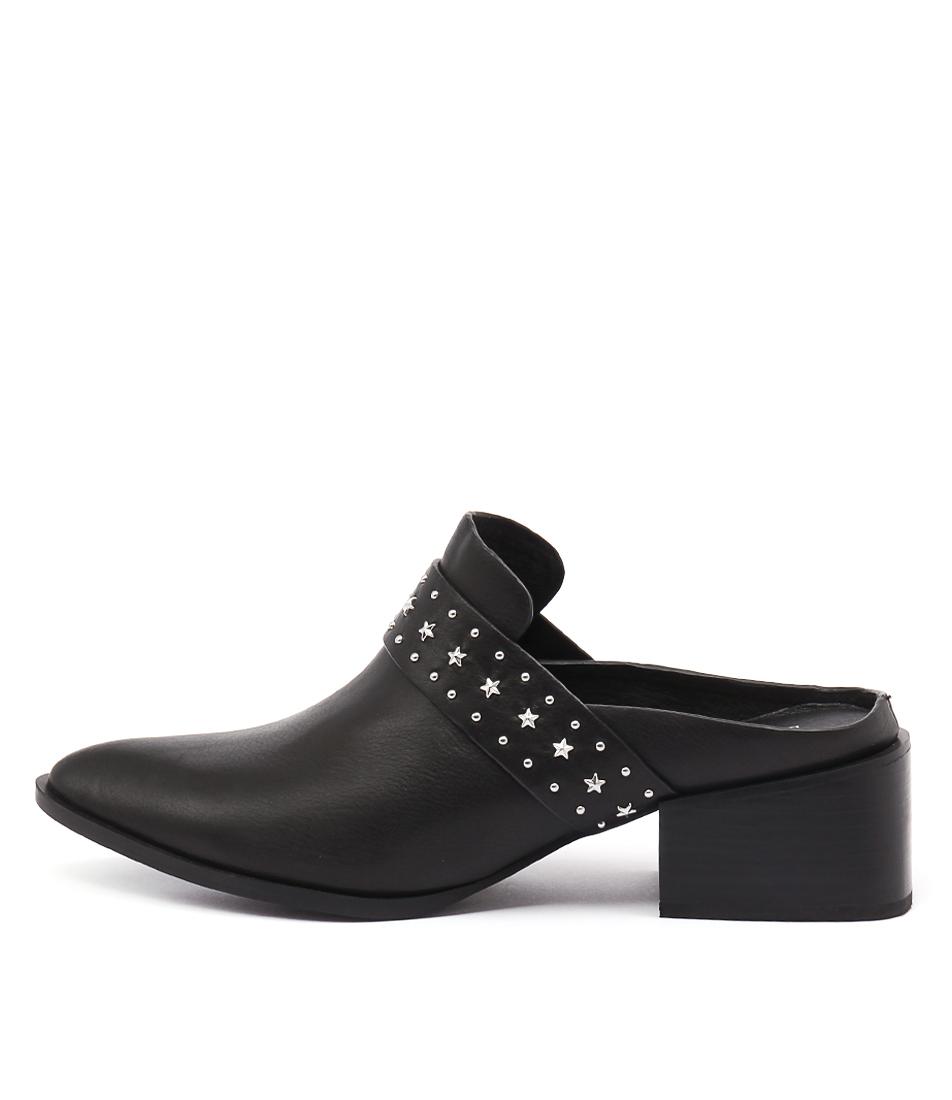 Sol Sana Charlie Mule Black Studs Shoes