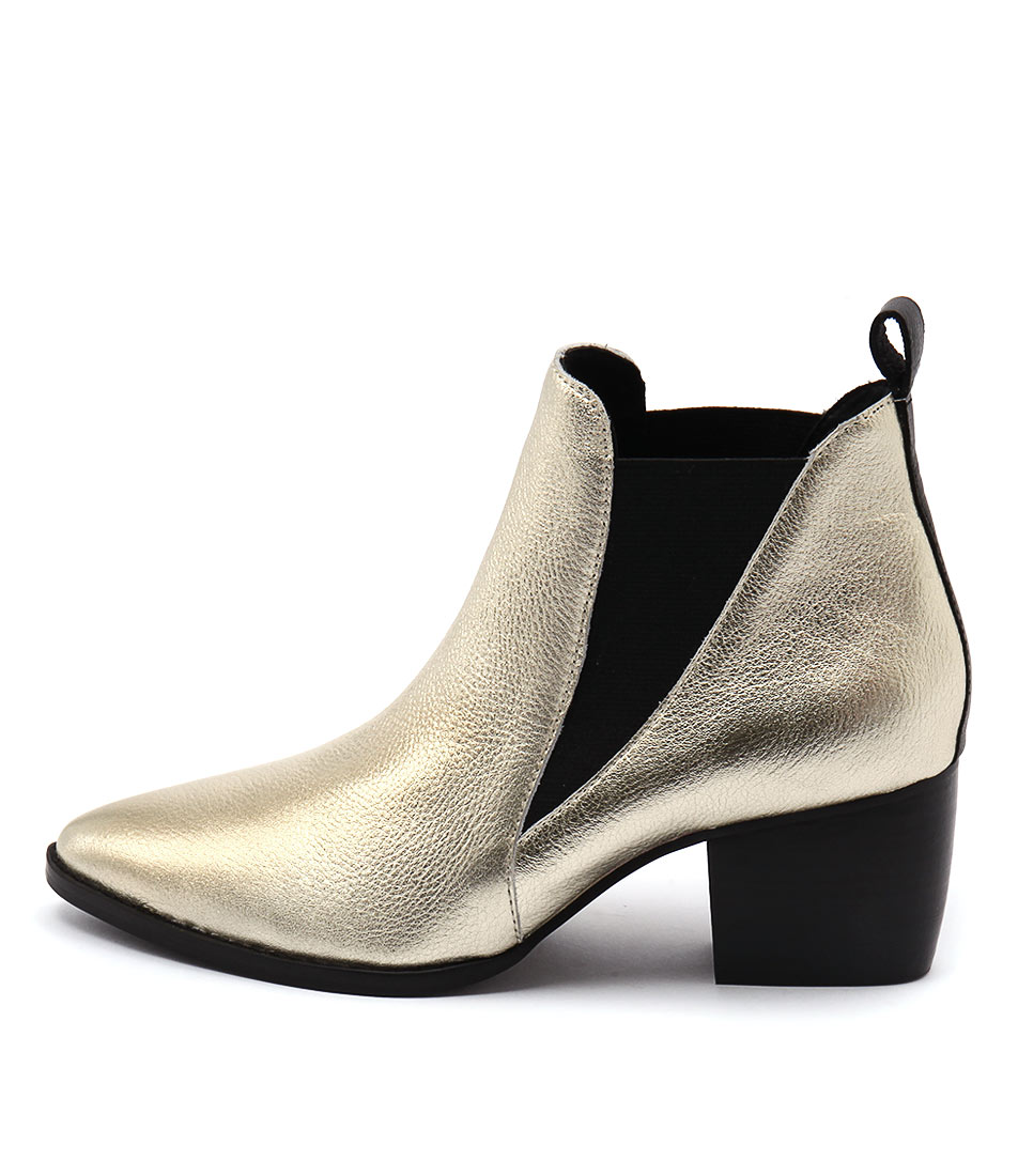 Sol Sana Bruno Gold Casual Ankle Boots