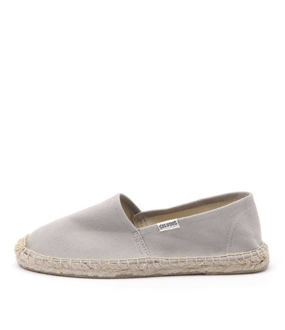 Soludos Original Canvas Dali Grey Flat Shoes