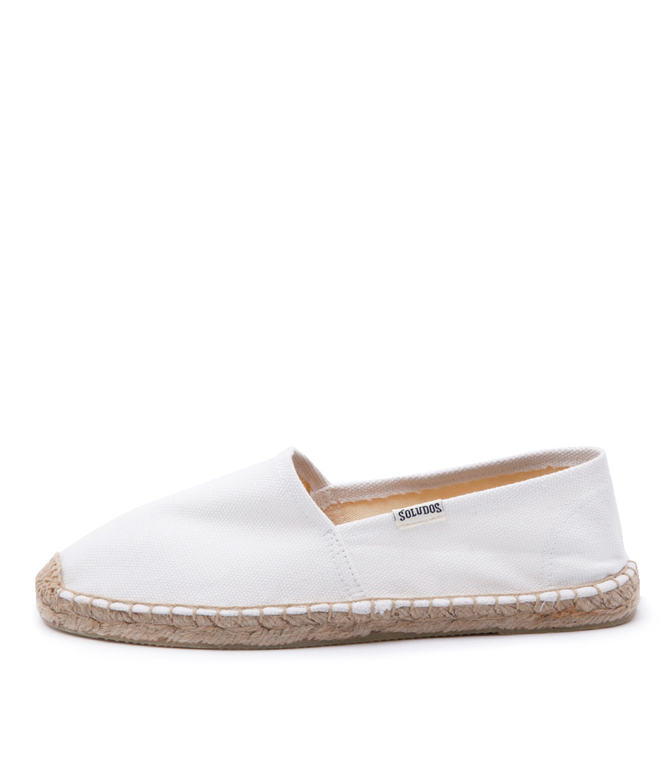 Soludos Original Canvas Dali White Casual Flat Shoes