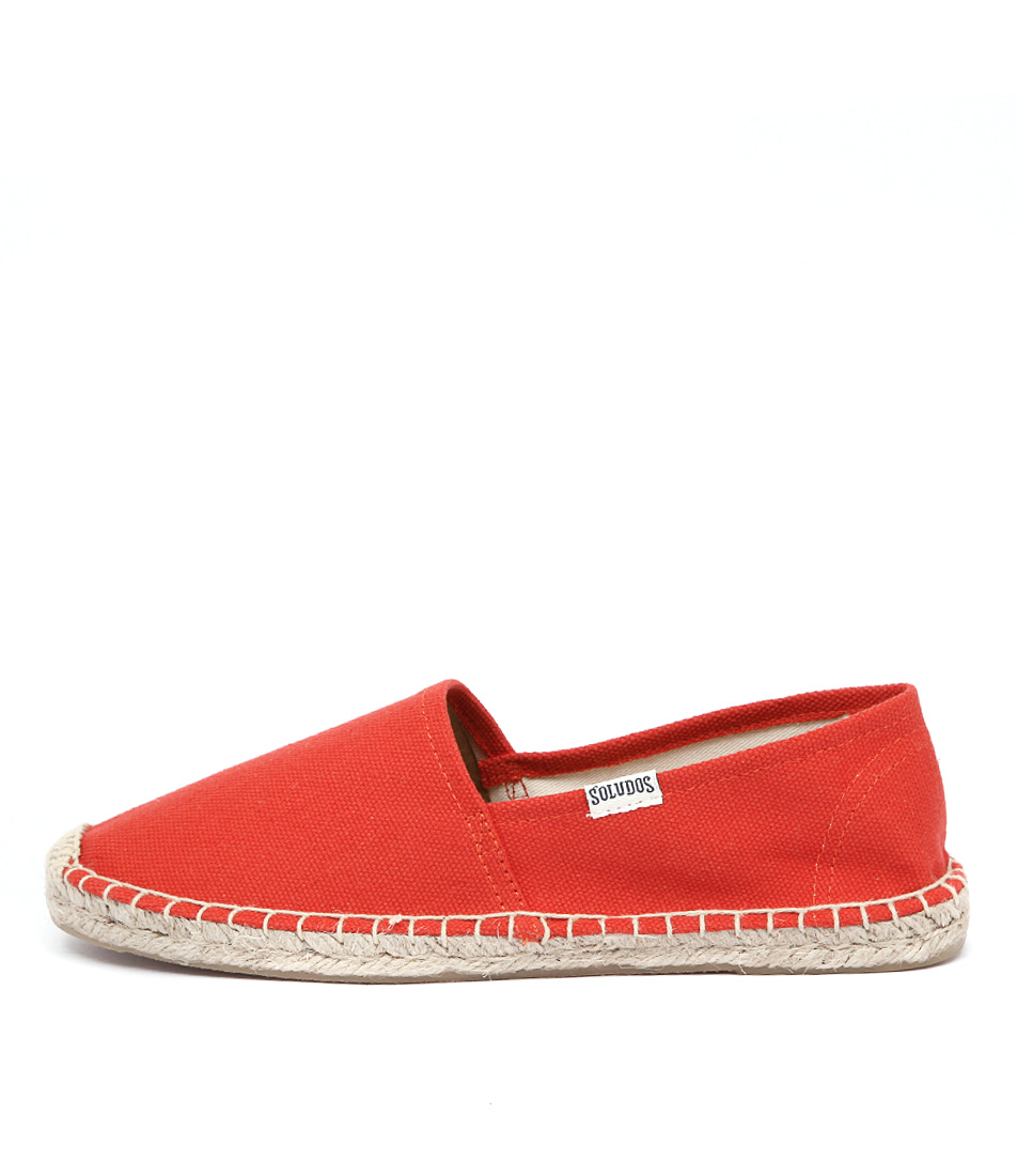 Soludos Original Dali Tangerine Red Casual Flat Shoes