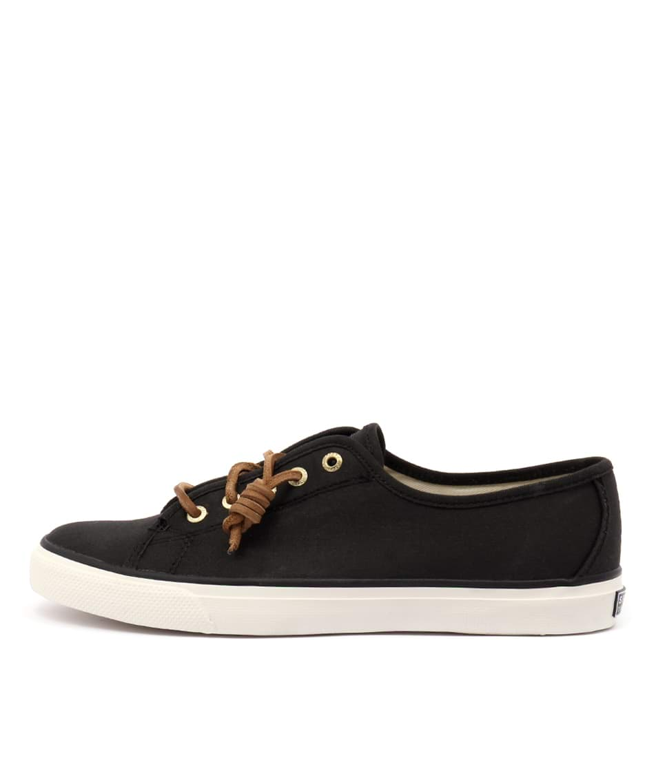 Sperry Seacoast Core Canvas Black Flat Shoes