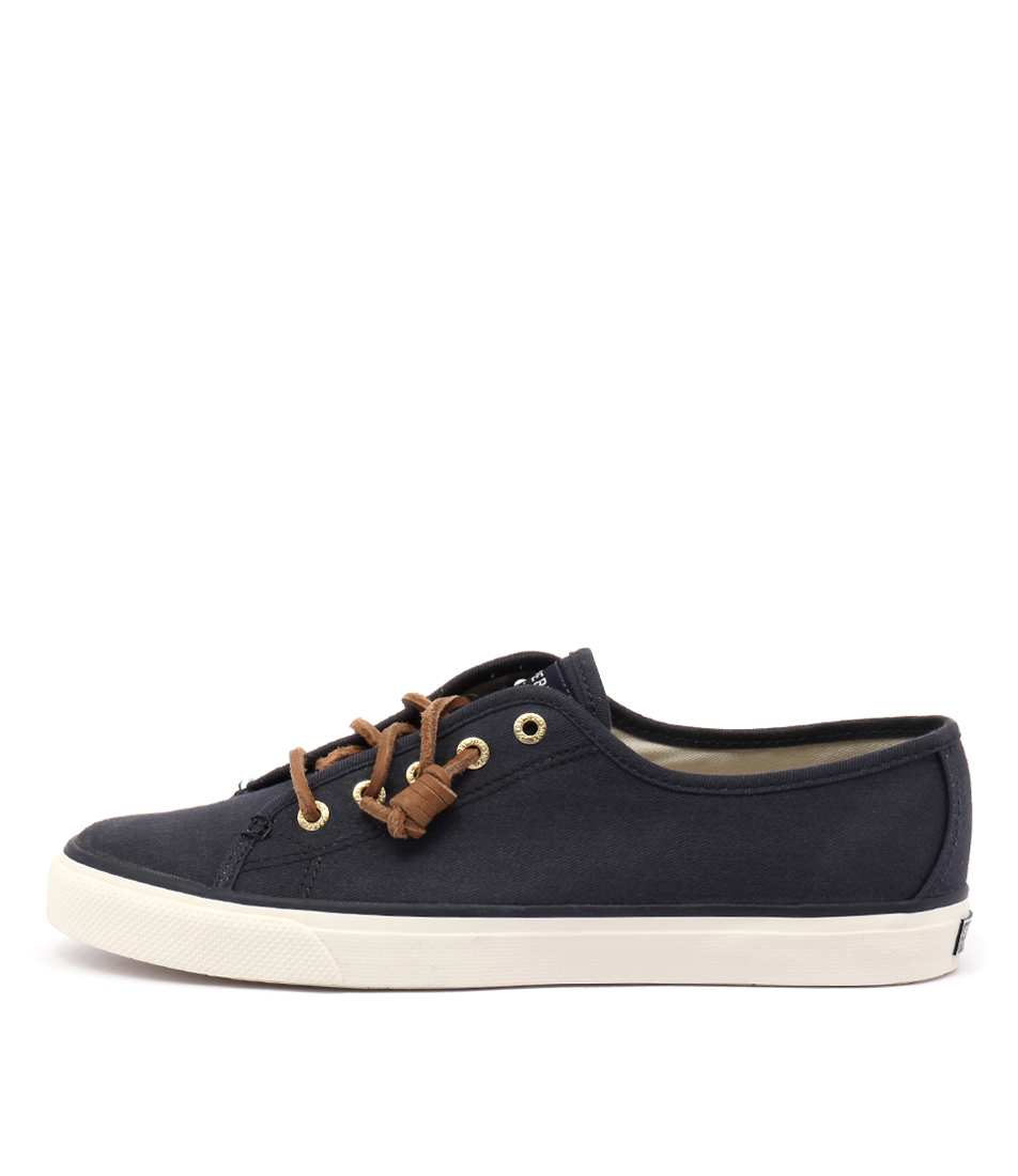 Sperry Seacoast Core Canvas Navy Flat Shoes