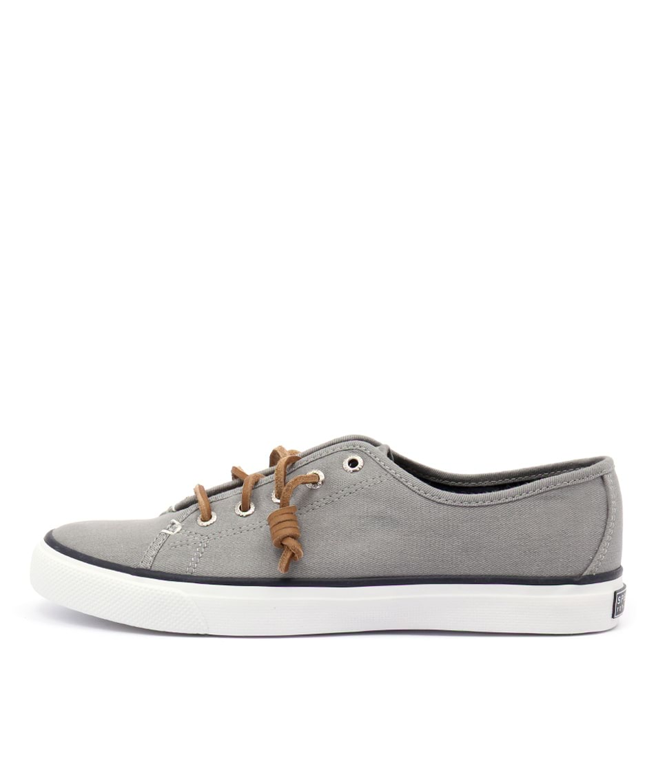 buy Sperry Seacoast Core Canvas Grey Flat Shoes shop Sperry Flats online