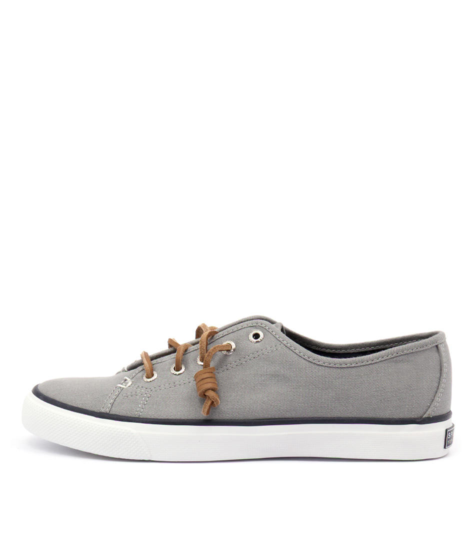 Sperry Seacoast Core Canvas Grey Flats