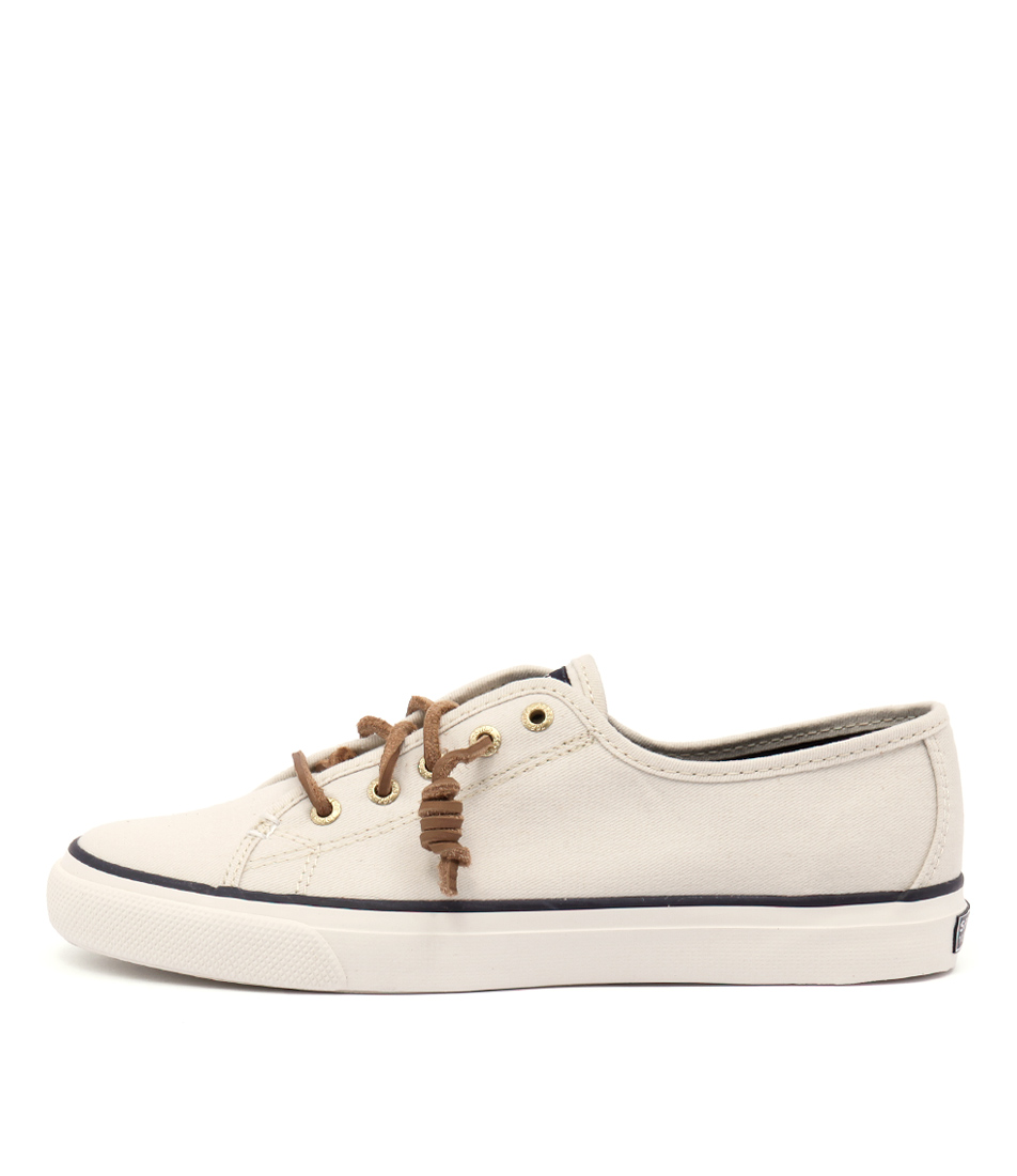 Sperry Seacoast Core Canvas Ivory Flat Shoes