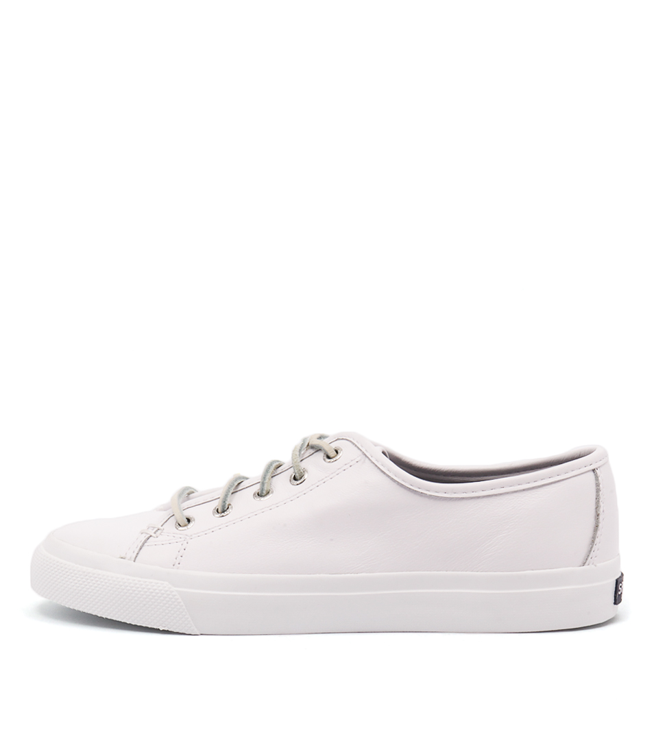 Sperry Seacoast Core Leather White Flats