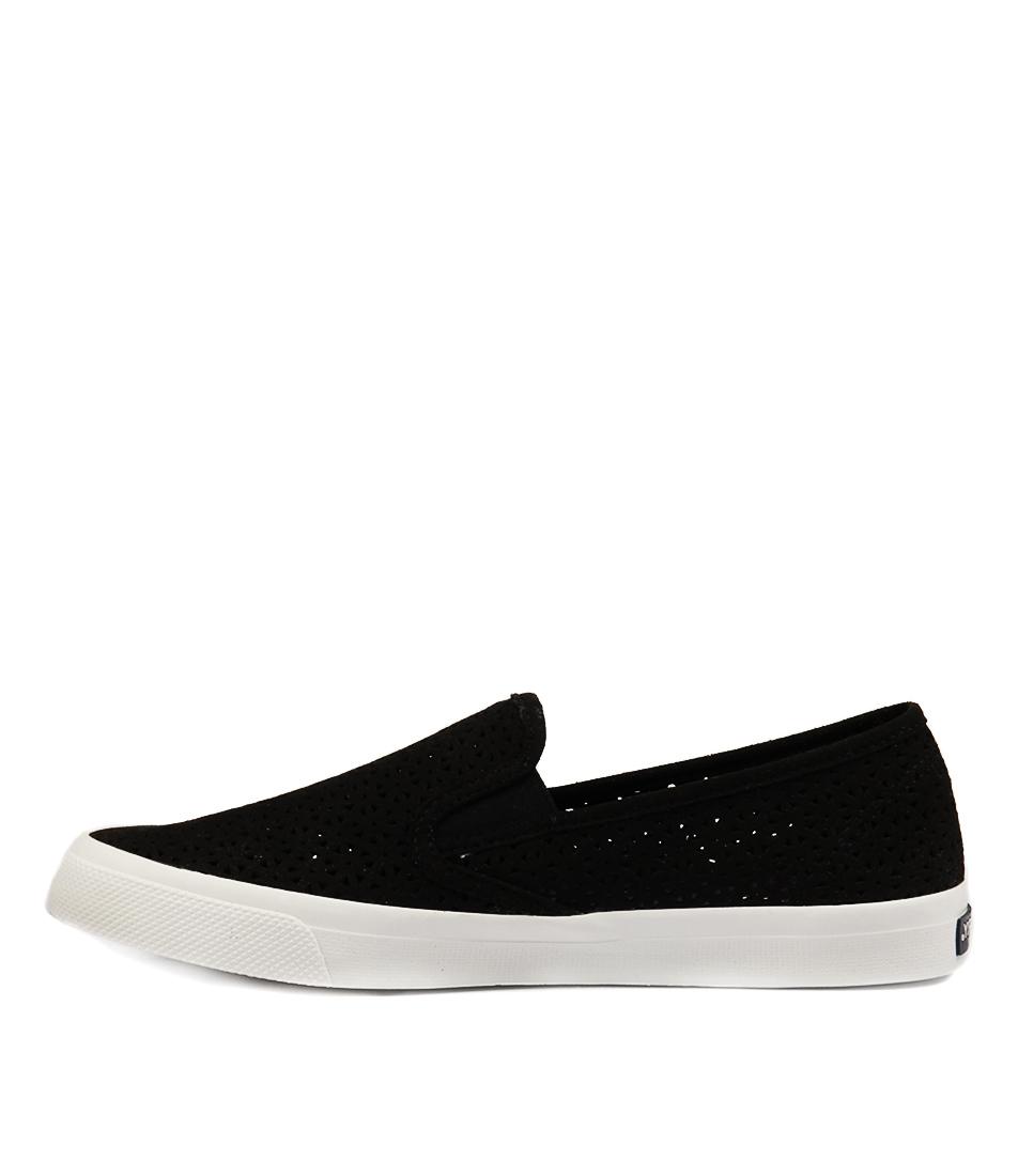Sperry Seaside Nautical Perf Black Sneakers