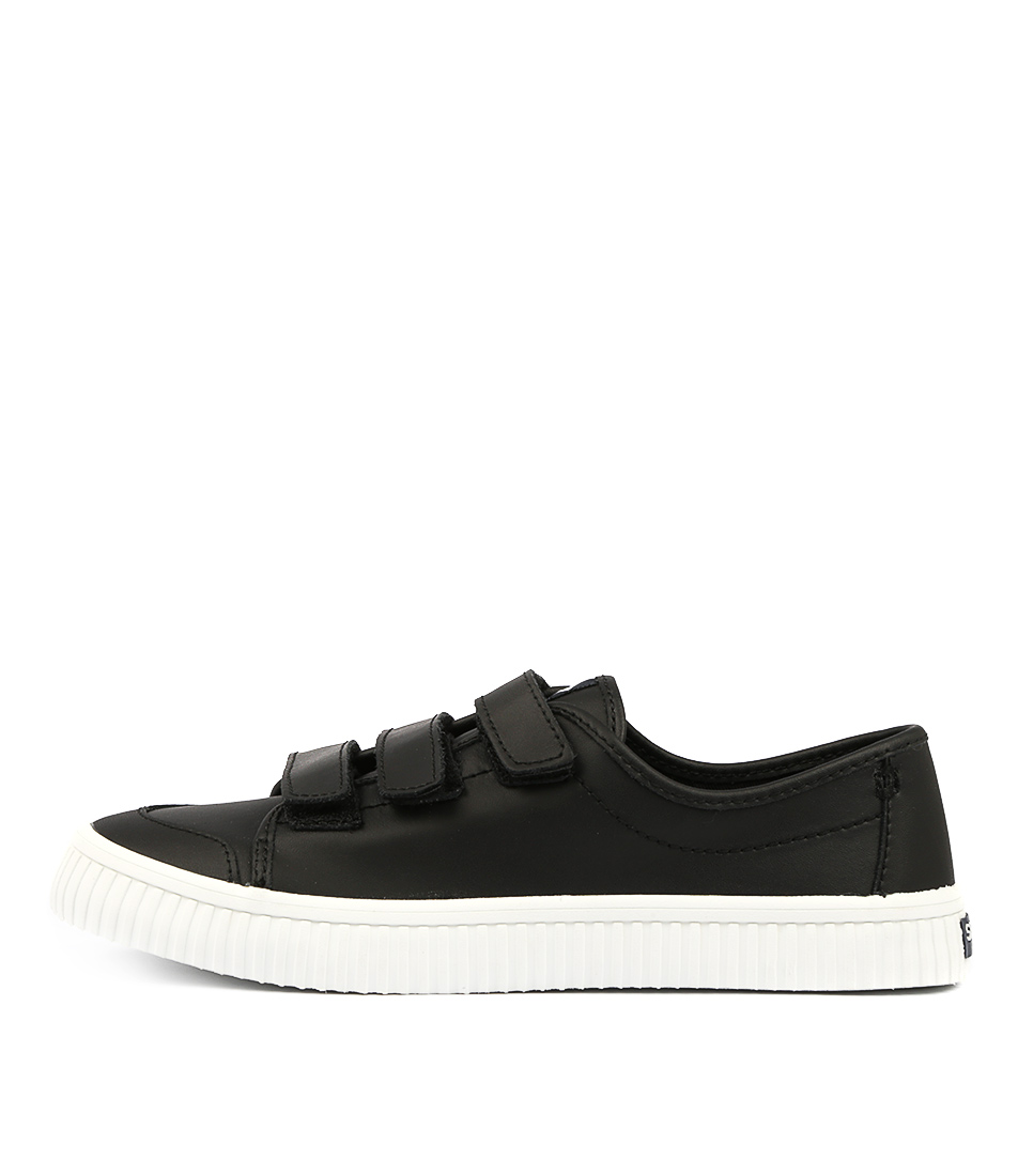 Buy Sperry Crest Creeper Velcro Black Sneakers online with free shipping