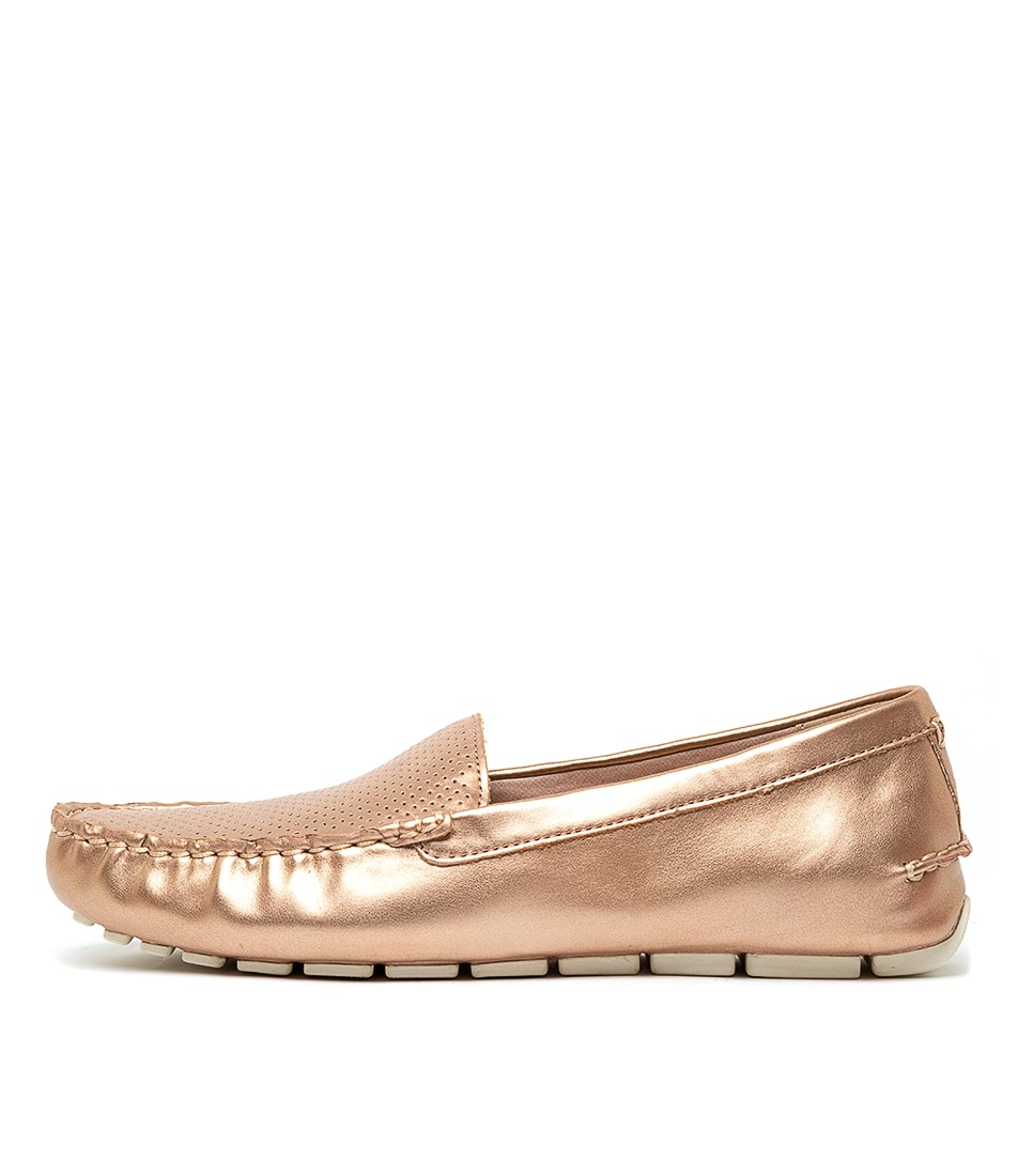 Buy Sperry Skipper Driver Rose Gold Flats online with free shipping