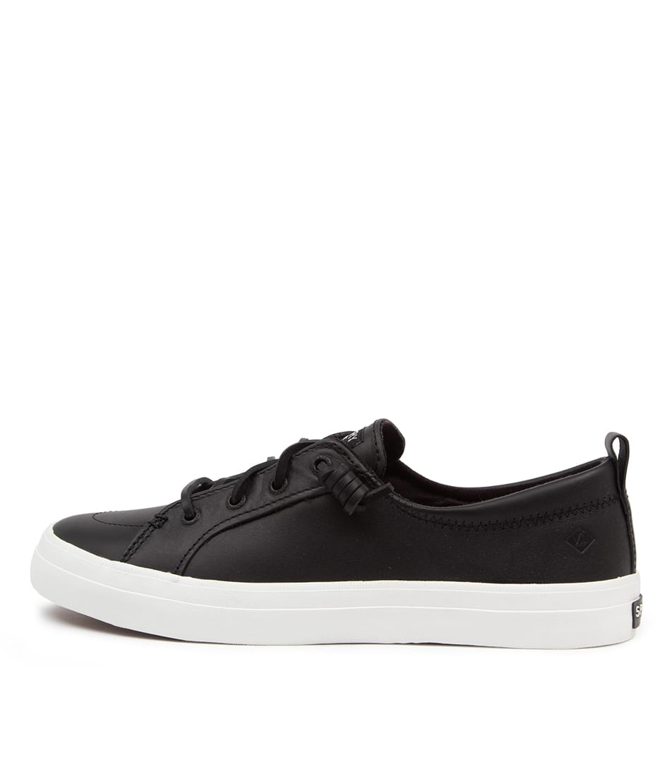 Buy Sperry Crest Vibe Leather Black Sneakers online with free shipping