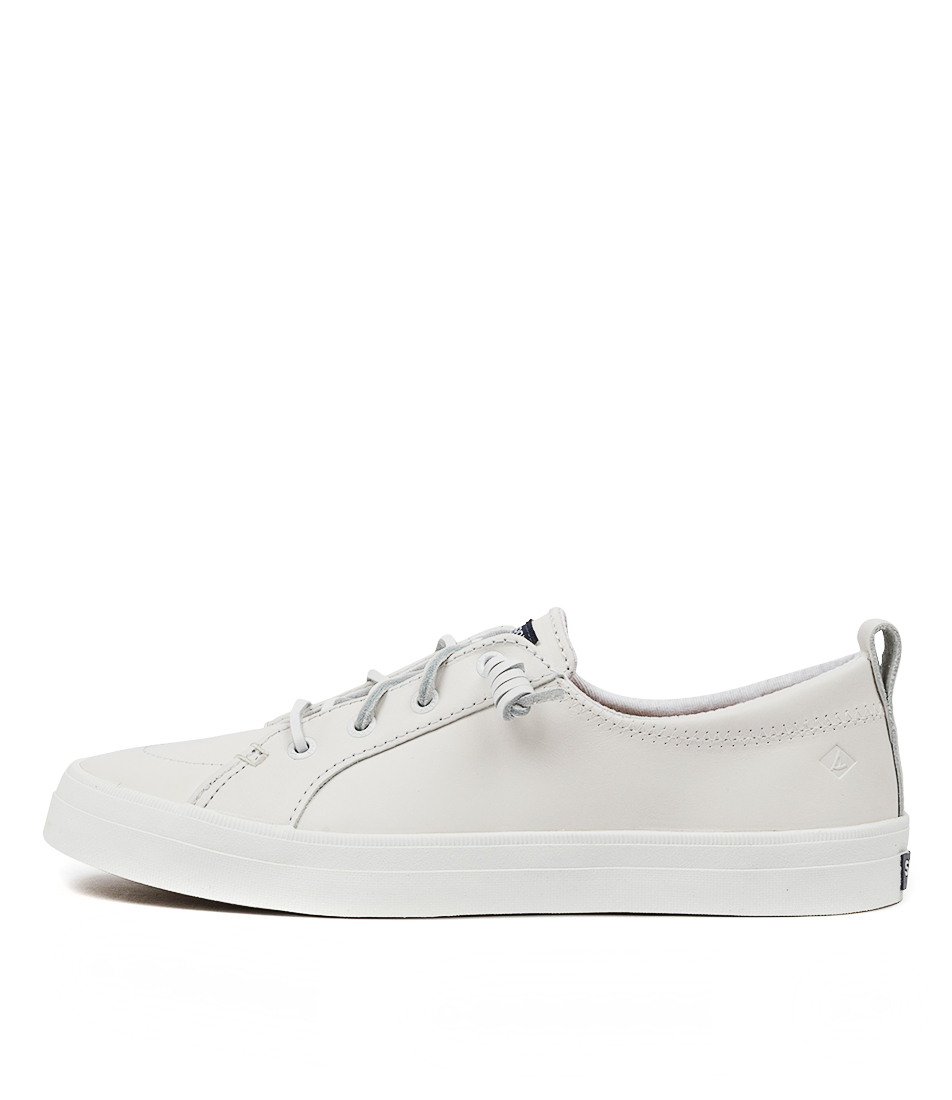 Buy Sperry Crest Vibe Leather White Sneakers online with free shipping