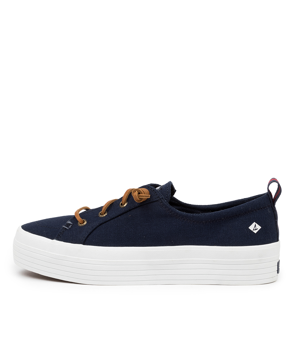 Buy Sperry Crest Vibe Platform Canvas Navy Sneakers online with free shipping