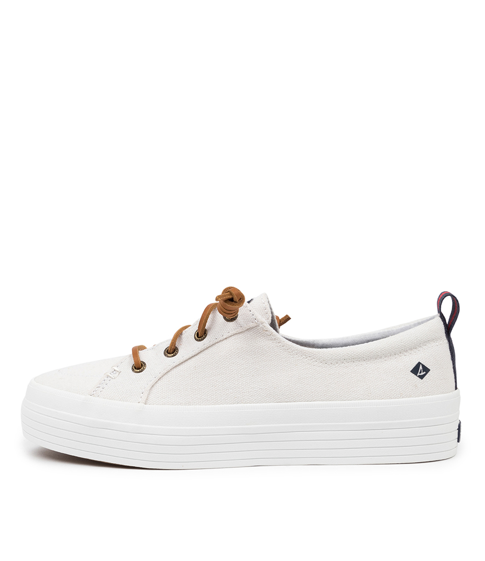 Buy Sperry Crest Vibe Platform Canvas White Sneakers online with free shipping