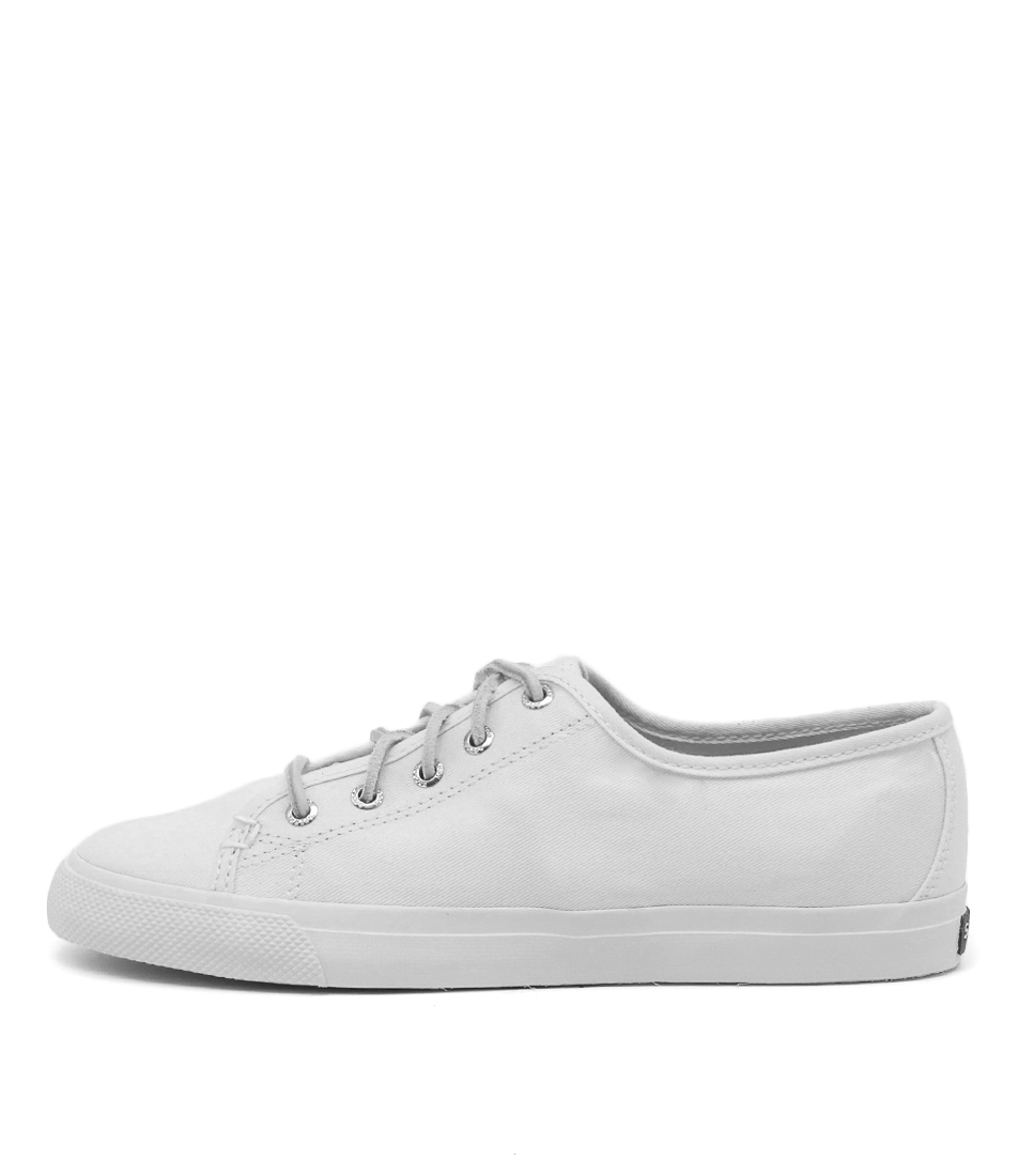 Sperry Seacoast Core Canvas Mono All White Sneakers