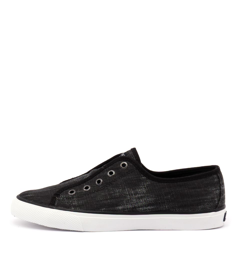 Sperry Seacoast Ripstop Canvas Black Sneakers