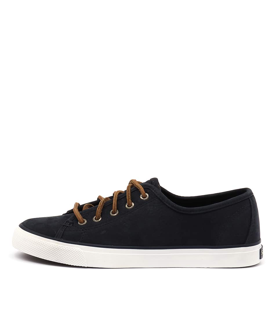 Sperry Seacoast Washable Leather Navy Sneakers