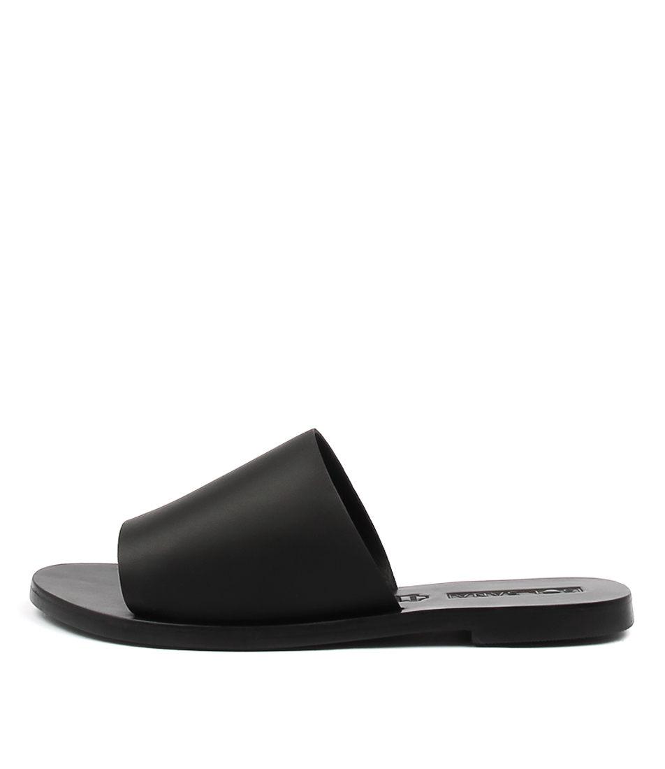 Sol Sana Teresa Slide Black Casual Flat Sandals