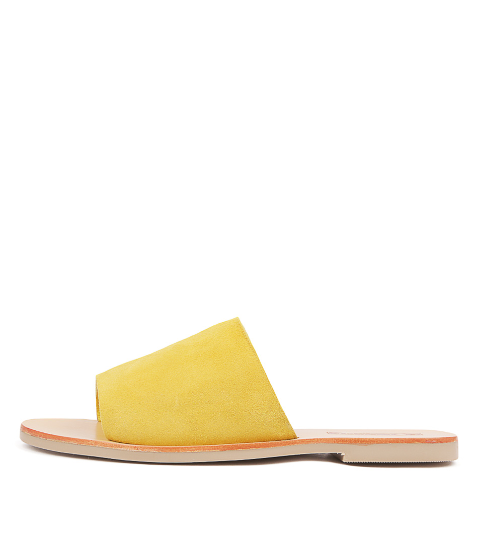 Buy Sol Sana Teresa Slide Lemon Flat Sandals online with free shipping