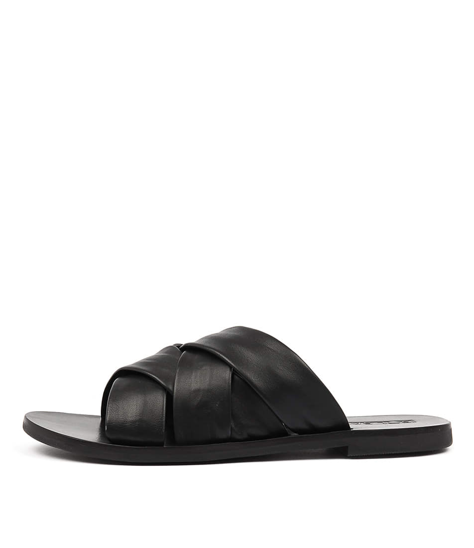 Sol Sana Nora Slide Black Casual Flat Sandals